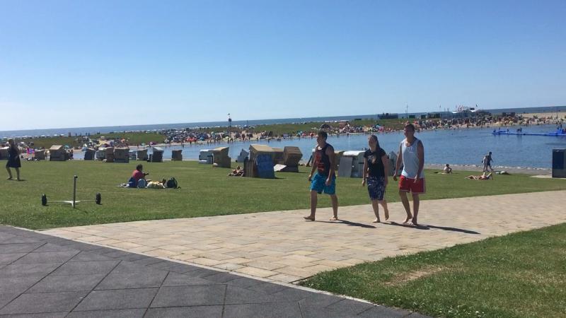 9 Juli 2017 Büsum Strand ( Бюзум пляж 2)