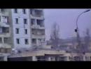 Грозный. 1 января, 1995. Разбитые дома в городе.