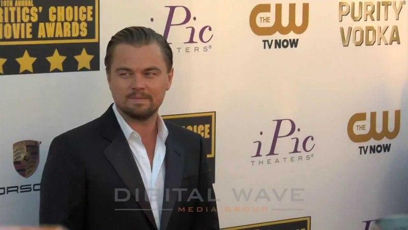 Leonardo DiCaprio Johah Hill at the 19th Annual Critics Choice Movie Awards