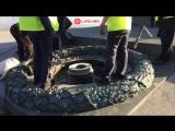 В Киеве второй раз за месяц залили цементом Вечный огонь в парке Славы