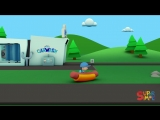 Hot Dogs And Ice Cream! YUM! Carl Washes Food Trucks at Carls Car Wash!   Cartoons For kids