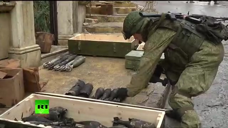 Russian sappers sweep Aleppo for mines, discovering shells made in US, Germany