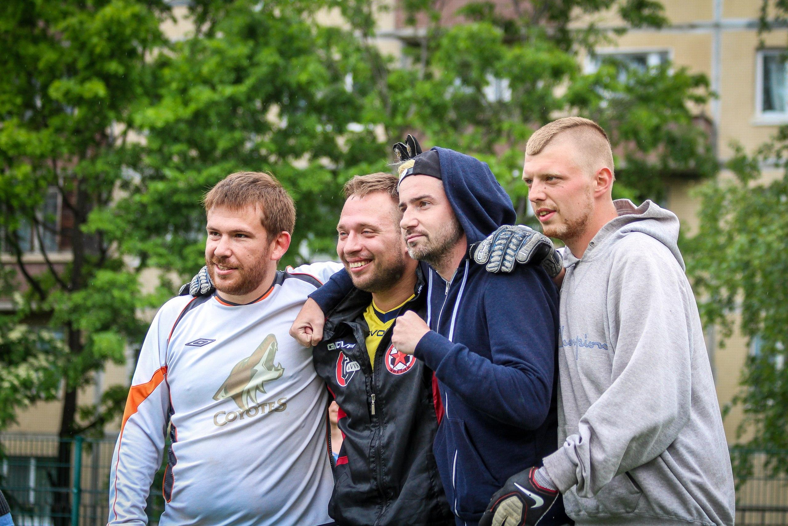 Андрей Ригачный, Андрей Шумов, Павел Алексеев и Александр Артемов на турнире пенальтистов - 2017