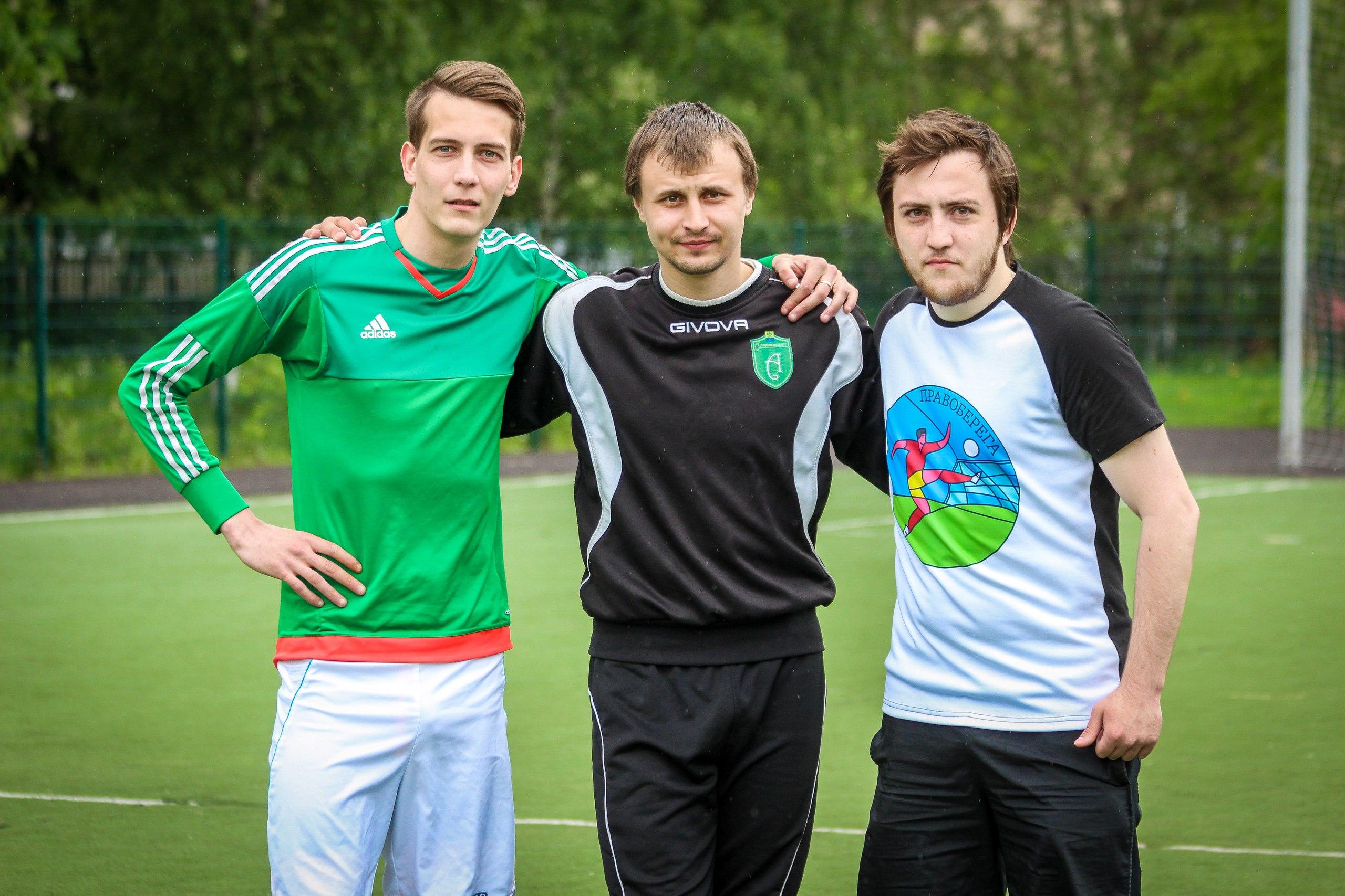 Николай Егоров, Сергей Самуйлов и Антон Конюк на турнире пенальтистов - 2017.