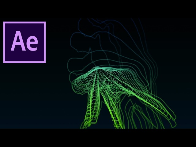 How to Create Futuristic Radio Wave Outlines in Adobe After Effects! (CC Tutorial)