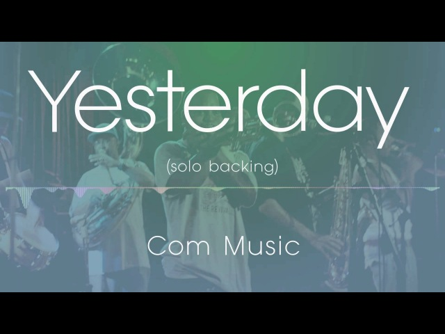 Yesterday jazz backing track all inst