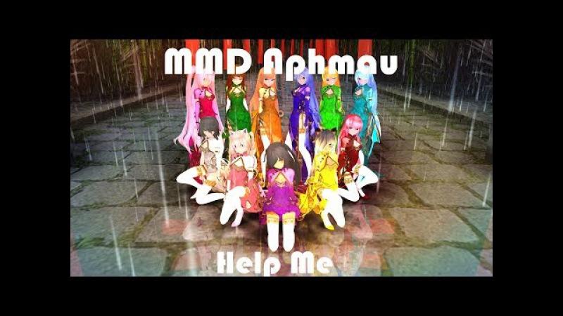 MMD x Aphmau Help Me Kimono Aphmau Model Dl