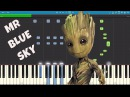 ELO - Mr Blue Sky - Piano Tutorial - Guardians of the Galaxy Vol. 2 - Groot Song