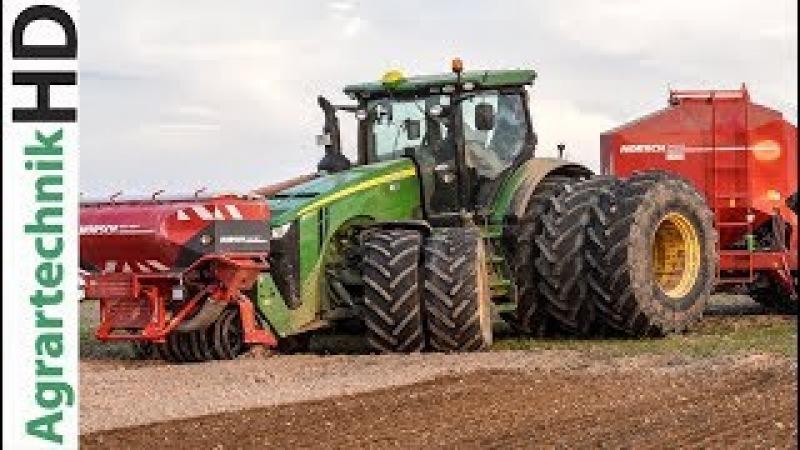 JOHN DEERE CLAAS Traktoren in Action | Mehr Gummi auf den Achsen geht nicht!