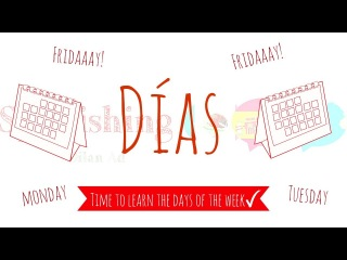 The days of the week in Spanish | Los días de la semana en Español | Learn Spanish
