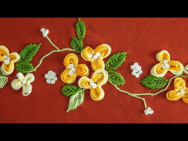 Easy DIY Flower: Hand Embroidery Pattern by HandiWorks