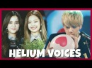 KPOP IDOLS FUNNY CUTE HELIUM VOICES 1 BLACKPINK BTS EXO TWICE GFRIEND BTOB GOT7 ETC [91K SUBS]