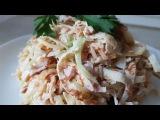 Салат с омлетом по - цыгански. Салат из блинов. Салаты с омлетом и ветчиной. Gipsy kitchen.