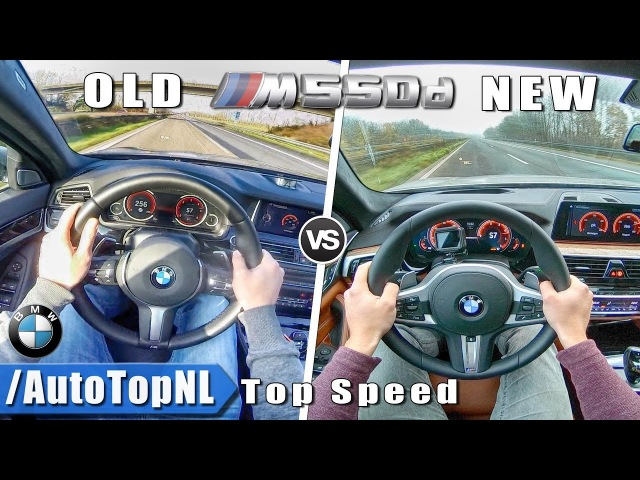 BMW 5 Series M550d xDrive NEW vs OLD 0-250km/h ACCELERATION TOP SPEED AUTOBAHN POV by AutoTopNL