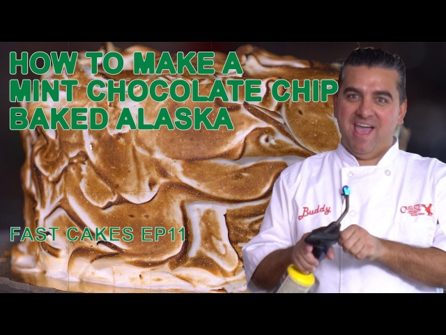 Buddy's Mint Chocolate Chip Baked Alaska | Fast Cakes Ep11