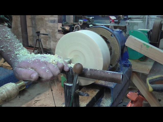 Тарелка из сосны или как правильно точить поперек волокон !