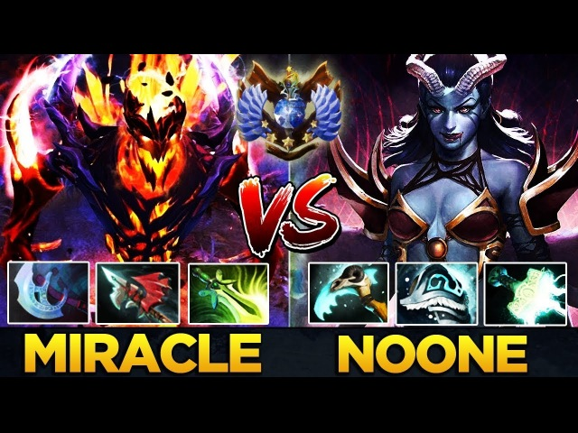 Who is the World's best Mid Player? Miracle- SF vs Noone QoP - EPIC Dota 2