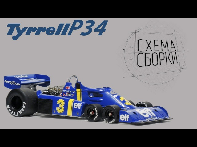 Tyrrell P34 Модель от Tamiya 1/20 ОБЗОР набора