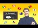 Corso di italiano - Lezione 4 / Di dove sei? (Learn Italian / Italienisch lernen)