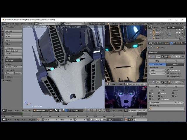 TFP Season 5 - Creation Process || [FAN WORK] || Modeling Optimus and other characters