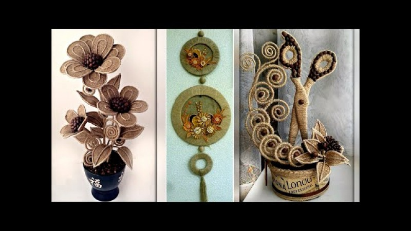 Jute Craft Decoration Design Collection DIY Room Decor Idea 2018 Images Photo