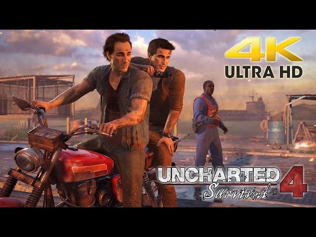 4K Capture Test: PS4 Pro - Uncharted 4: A Thief's End - @ 4K 2160p HD ✔