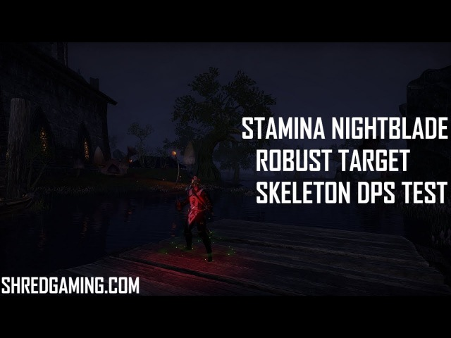 ESO - Stamina Nightblade - Rotation Showcase - Dragon Bones