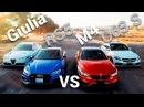 Giulia VS RS5 VS M4 VS C63 S comparativa deportivos europeos | Autocosmos