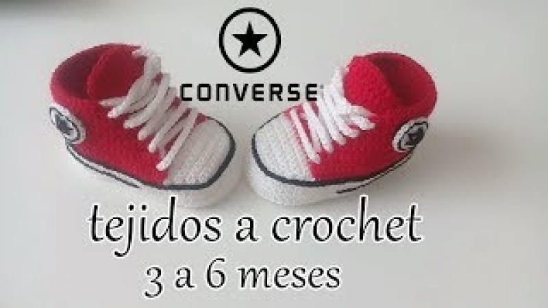 Converse tejidos a crochet - bebe - ALL STAR