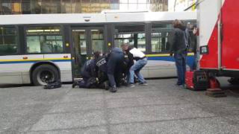 Arrest on Christmas eve outside Vancouver skytrain city station