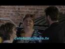 Gerard Butler kisses his favorite fans outside Jimmy Kimmel live