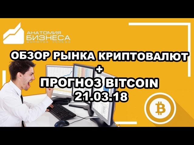 🔥Криптовалюта: обзор рынка на сегодня новости прогноз (Bitcoin) BTC/USD 21.03.2018