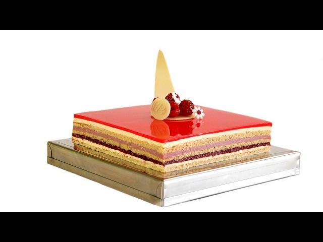 Tarta Ópera de frambuesas - Raspberry Opera Cake