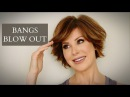 How To Blow Out Bangs with Tons of Volume