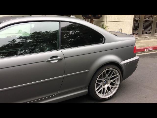 BMW M3 E46 Wrapped in Matte Grey Metallic