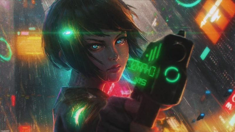 Cyberpunk Anime Girl