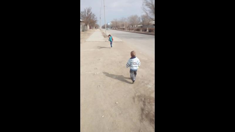бежим домой после праздника Наурыз 2018