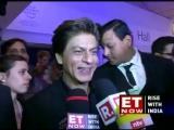 Shah Rukh Khan at his modest best after winning the Crystal award at #wef18