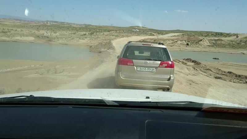 Туркмения дороги... Пустыня...