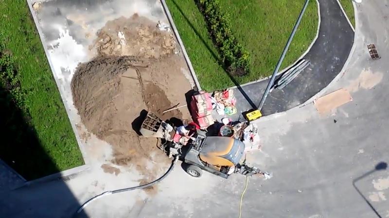 Полусухая стяжка пола в ЖК Прима-Парк 2 часть
