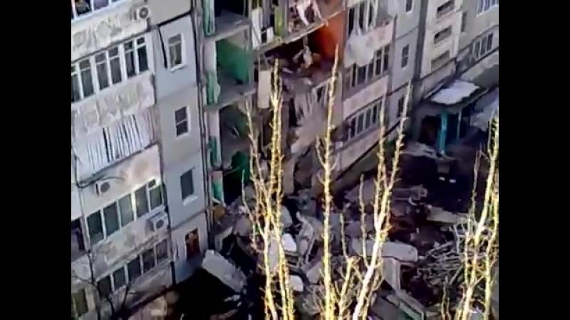 Астрахань.2012 обрушение панельного дома в результате взрыва балона