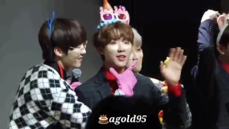 [VK][180223] Golden Child (Donghyun focus) @ Apgujeong fansign