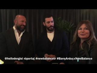 BARIŞ ARDUÇ VE NEW BALANCE İşbirliği HELLO! dergisi kısa röportaj