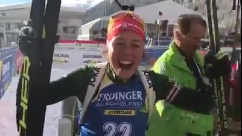 DSV Biathlon - Juhu! 📣 Laura Dahlmeier läuft auf Platz 2