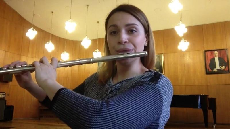 И. С. Бах партита для флейты соло a-moll Allemanda