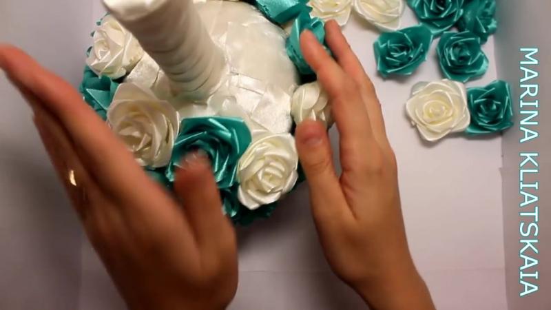 Свадебный букет Синева_(ENG SUB)_Wedding bouquet Blue_Свадебные аксессуары Марин