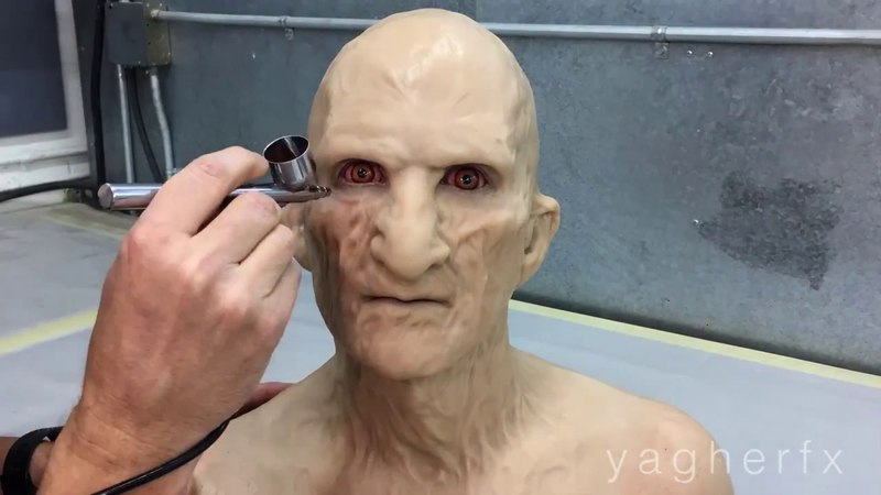 Re-creating Freddy Krueger Make-up in Silicone