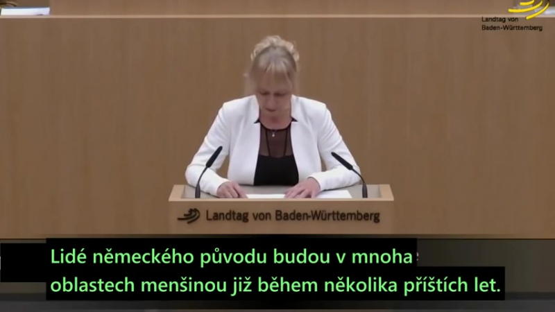 NĚMECKO Plán náhrady populace je skutečností - Christina Baum (AfD) [CZ titulky] Čum.sk