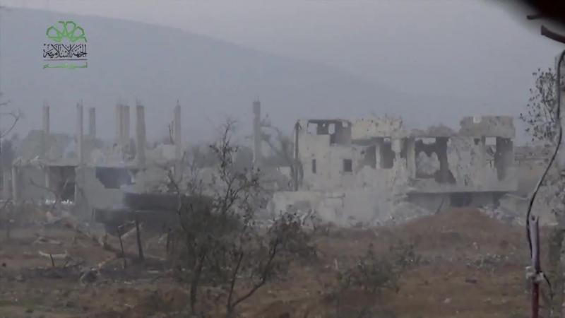Сирия 05 02 2018 Поражение ЗСУ 23 4 Шилка выстрелом из рпг боевиками Ахрар аш Шам в Хараста Дамаск