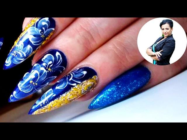 Цветы на ногтях стилетах   Рисунки на ногтях   Весенние дизайны ногтей 2018   New Nail Art 2018